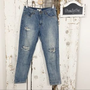 Life in progress destroyed boyfriend fit jeans